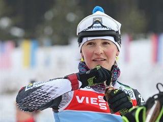 Veronika Vítková při tréninku v Novém Městě na Moravě.