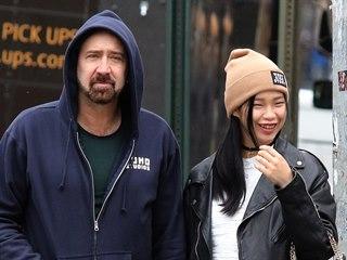 Nicolas Cage a Riko Shibata (New York, 3. března 2020)