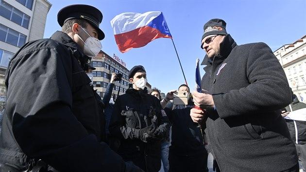 Demonstrace na Václavském náměstí trvala 12 minut