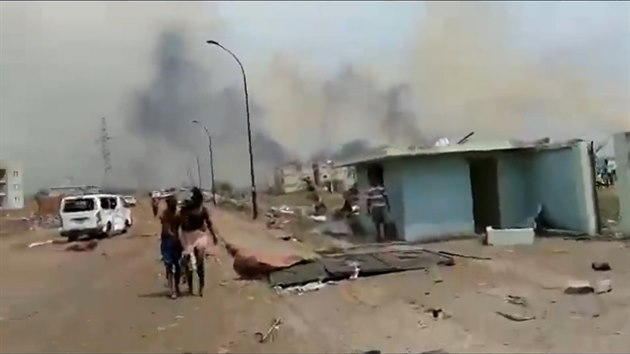 V Rovníkové Guineji explodoval sklad s dynamitem, výbuch má 20 obětí