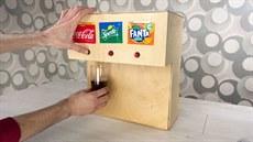 Muž si vyrobil vlastní automat na oblíbené nápoje