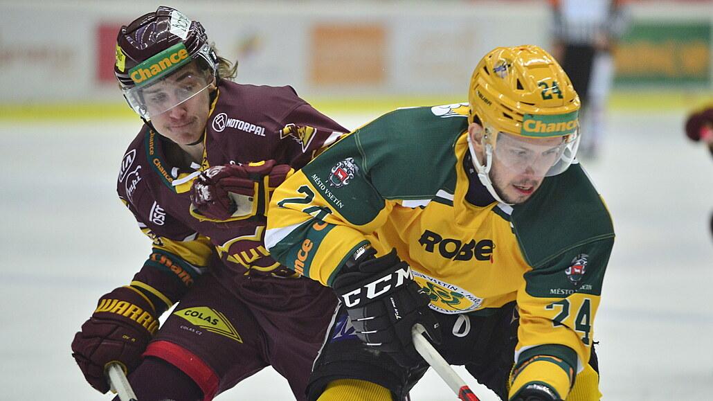 První hokejová liga nabízí šlágr mezi Jihlavou a Vsetínem, Slavia hraje ve Frýdku