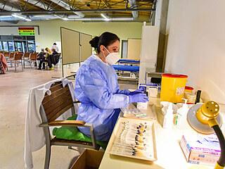 Kroměřížské výstaviště Floria se proměnilo v očkovací centrum.