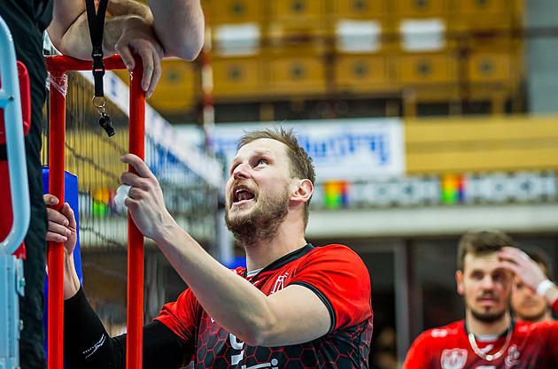 Radek Mach z Českých Budějovic během druhého finále proti Karlovarsku
