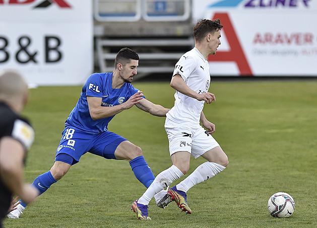 Slovácko – Liberec 1:0, Jurečka po pauze proměňuje pokutový kop