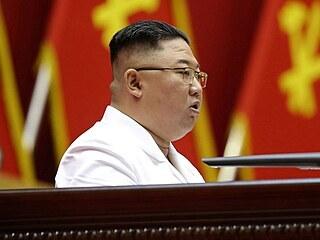 Severokorejský vůdce Kim Čong-un na sjezdu Korejské strany práce vyzval občany,...