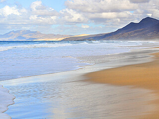 Na konci světa. Pláž Cofete na jižním cípu Fuerteventury