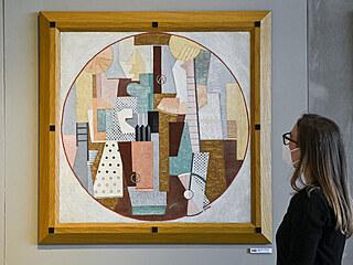 Obraz malířky Toyen Cirkus se v aukci prodal včetně aukční přirážky za 79,56...