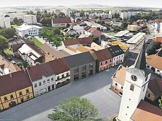 Vítězný návrh spolkového domu na náměstí ve Velešíně by měl dobře zapadnout do...