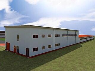 Nové kryté sportoviště by mělo být 115 metrů dlouhé a patnáct a půl metru...