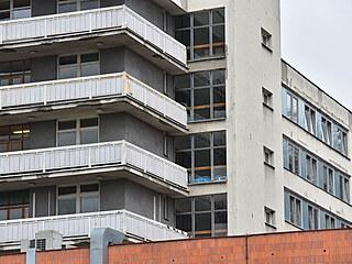 Budova interny v Krajské nemocnici Tomáše Bati ve Zlíně (duben 2021).