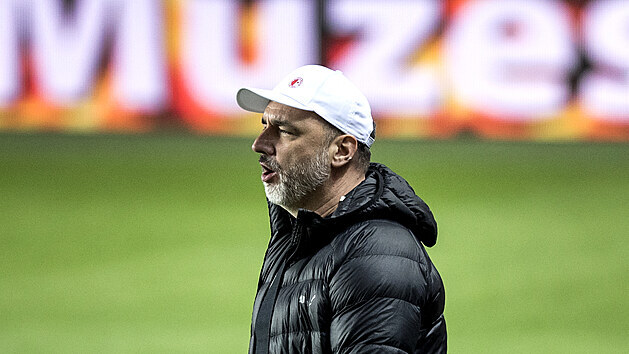 Trenér Slavie Jindřich Trpišovský po zápase se Spartou