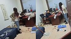 Číňanka zmlátila oplzlého šéfa mopem