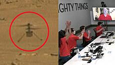 Vrtulníček Ingenuity se poprvé proletěl nad Marsem