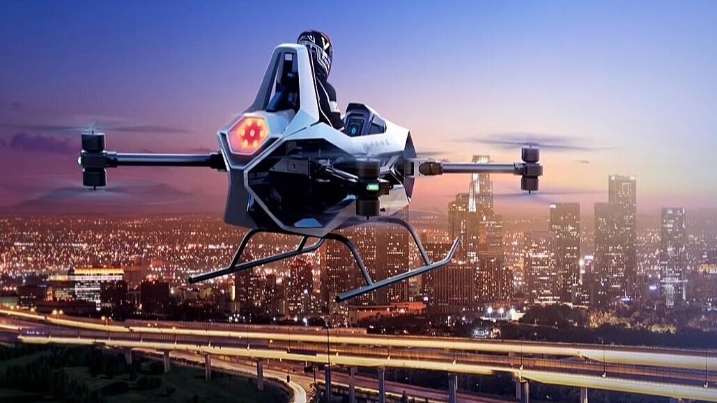 Autofotka týdne: létající cosi na autosalonu v Šanghaji