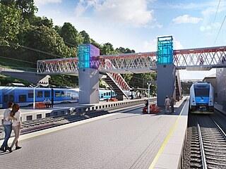 Na dosud nevzhledném nádraží v Adamově vzniknou dvě ostrovní nástupiště a nová...