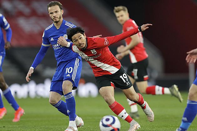 Fotbalisté Leicesteru uhráli s oslabeným Southamptonem jen remízu