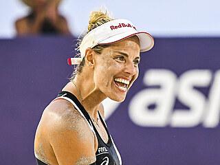 Markéta Nausch Sluková se raduje během turnaje v Cancúnu.