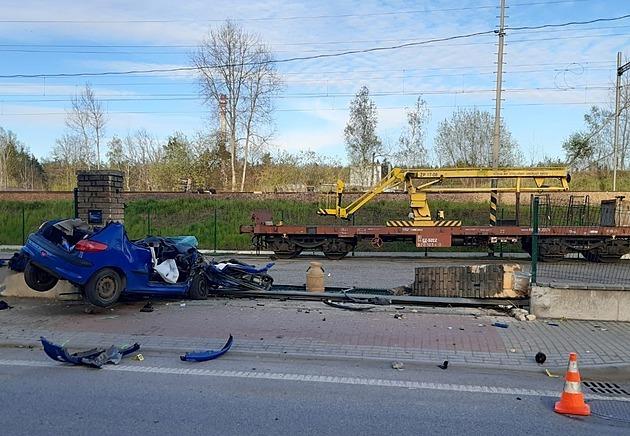Dopravní nehoda ve Veselí nad Lužnicí na Táborsku, při které zemřel jeden člověk. (8. května 2021)