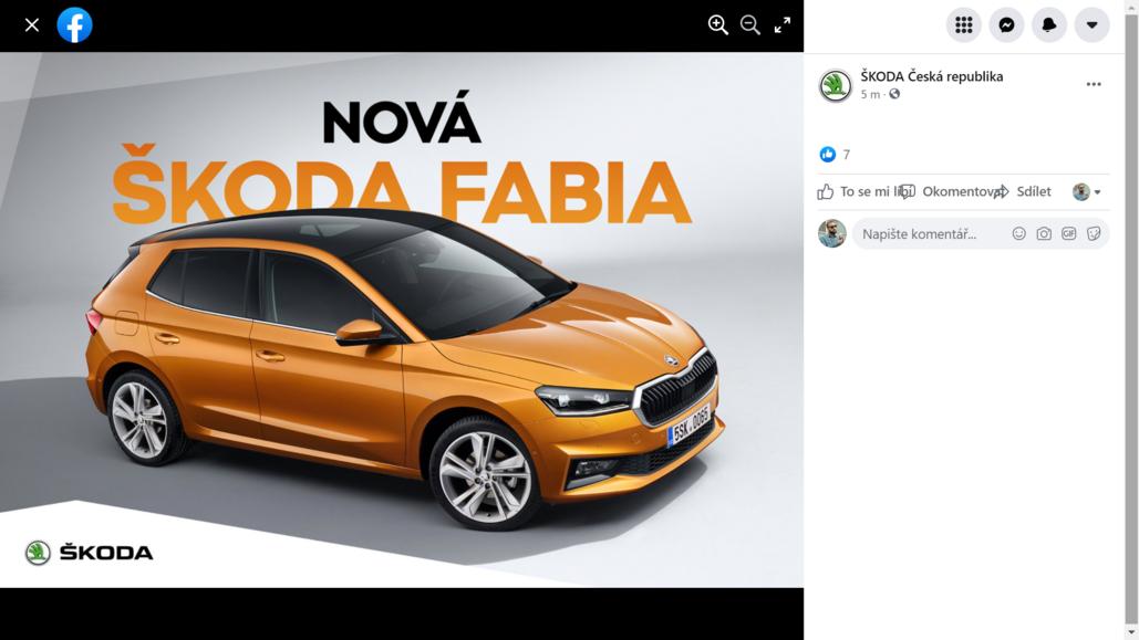 Škodě utekly fotky nové fabie na facebook chvíli před odhalením