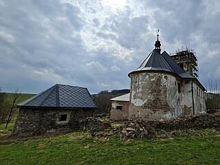 Kostel svatého Jana Nepomuckého u česko-polských hranic v Orlických horách...