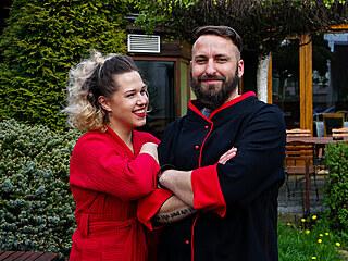 Kristýna Koláčková se svým přítelem Petrem.