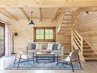 Roubenka u tří skřítků, Montesara interiors (kategorie Dřevěné interiéry –...
