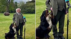Pes irského státníka se nudil při projevu