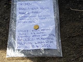 Unikátní nález laténské kultury: drobná zlatá keltská mince.