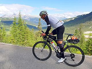 Na trati závodu Ultracycling Dolomitica nastopuám přes 16 výškových kilometrů.