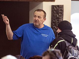 Provozovatel restaurace U Ervina v Hlubočkách u Olomouce Radovan Hořín během...