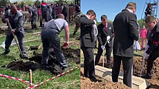 Rusové soutěžili v kopání hrobů na čas