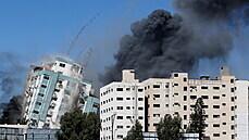 Po náletu na Gazu se zřítilo sídlo novinářů