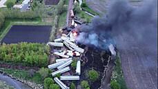 V Iowě vzplál vykolejený vlak, měl nebezpečný náklad