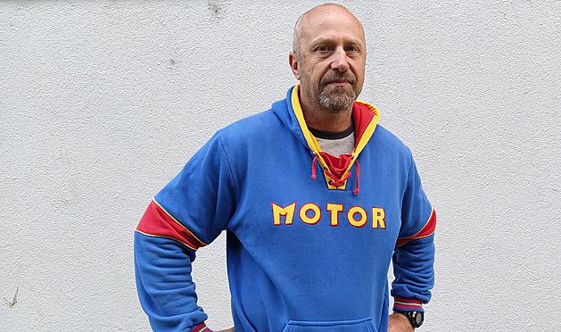 Trenér Českých Budějovic Jaroslav Modrý před tréninkem.