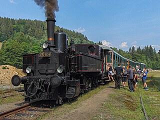 Lokomotiva 310.0134 ve stanici Rokytnice na Jizerou