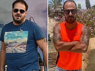 Ondřej Ládek alias Xindl X v roce 2018 a v roce 2021 po zhubnutí 20 kilogramů a...