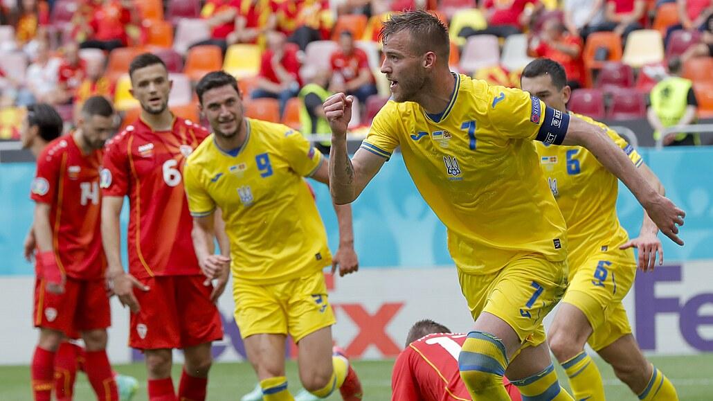 Ukrajina - S. Makedonie 2:1, favorit nedal penaltu a o výhru se strachoval