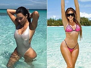 """Smyslné plavky, které nosí """"Kardashianky""""."""