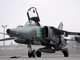 MiG-27K z výzbroje Skupiny sovětských vojsk v Německu. Letouny stejného typu...