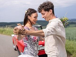 Jan Cina a tanečnice Adriana Mašková (2021)