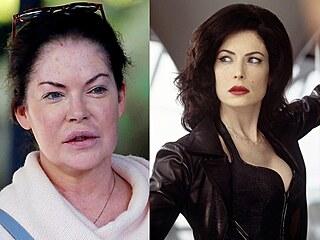 Lara Flynn Boyle v letech 2016 a 2002