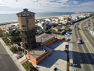 Vodárenská věž stojí Seal Beach v Orange County v Kalifornii od konce 19....