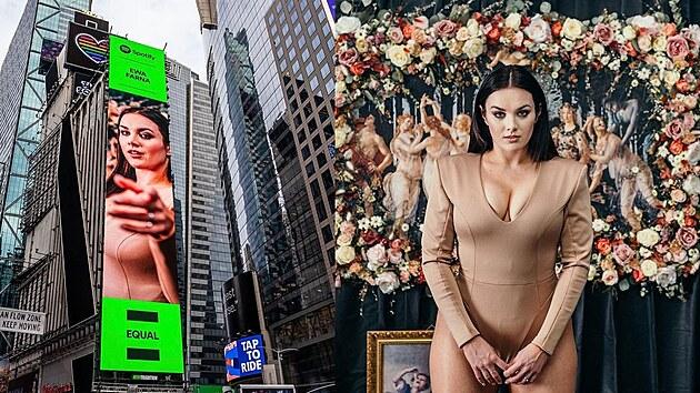 Ewa Farna se objevila v reklamě na Times Square