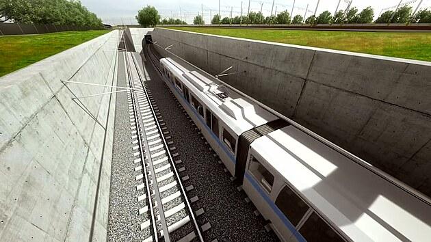 Prohlédněte si trasu pražského metra D, které spojí Písnici s centrem
