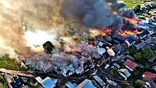 V Polsku hořelo 40 domů, zasahovaly stovky hasičů