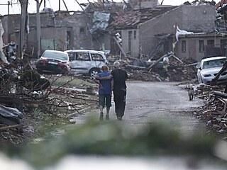 Následky tornáda v Mikulčicích na jižní Moravě. (25. června 2021)