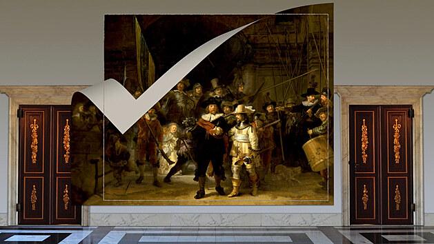 Rembrandtova Noční hlídka je po 300 letech poprvé kompletní