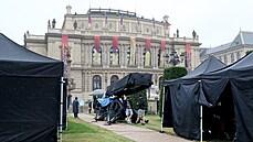 Netflix Film Company in Prague Films Gray Man (July 2, 2021)