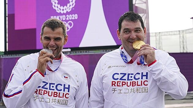 David Kostelecký (vlevo) a Jiří Lipták na olympiádě v Tokiu 2020. Kostelecký...
